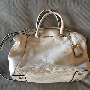 White Michael Kors leather purse